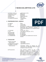 Ficha Tecnica de Lorpyfos 25 Ps Tqc