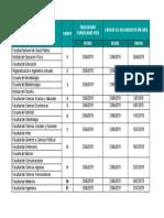 Cronograma Liquidación 2019-2
