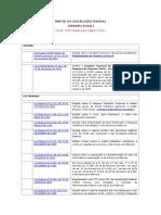 LISTA ATUALIZADA de Leis Ordinárias e Complementares Federais