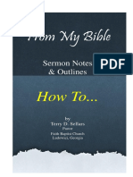 Booklet FROM MY BIBLE How to Sermons May 2014