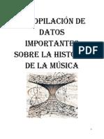 Datos Importantes Sobre Musica
