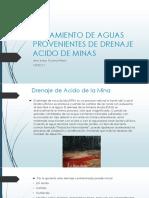 Tratamiento de Drenaje Acidos de Minas