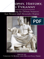 [Suny Series in the Thought and Legacy of Leo Strauss] Timothy W. Burns, Bryan-Paul Frost - Philosophy, History, and Tyranny_ Reexamining the Debate Between Leo Strauss and Alexandre Kojeve (2016, State Uni.pdf