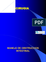 Tema 43; Manejo de La Obstruccion Intestinal