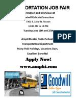 June 2019 AMPHI Job Fair Flyer