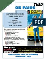 June 2019 TUSD Job Fair Flyer