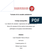 Trabajo Variantes Consulta Ambulatoria