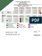 Kalender Pendd SMAN 7 Solsel TP. 2019 - 2020