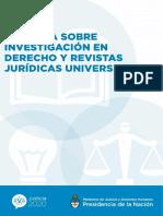 Informe Ciencias Sociales y Abogacía - SENCyT - RICIyT
