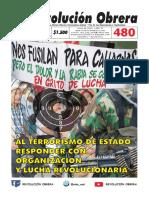 Periódico Revolución Obrera No. 480