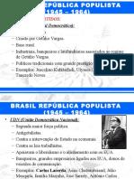 História do Brasil - República populista