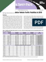 Early Estimate of Motor Vehicle Traffic Fatalities in 2018