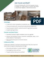 Lancaster County Land Bank, NC Informational Handout -12!01!17