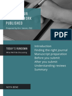 Getting Your Research Work Published
