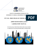 Ptt156 - Hysys Lab Manual