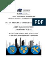 Ptt156 - Hysys Lab Manual