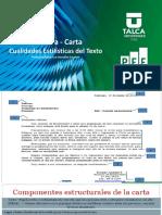 Carta Cualidades Estilísticas Del Texto