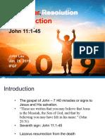 New Year Resurrection Resolution