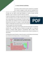 Estructura General de La Tabla Periodica Moderna