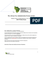 2019 ATAF Online Course on Introduction to Tax Audit-Written Exam
