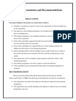 Findings, Conclusion and Recommendations