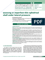 Buckling of Imperfect Thin Cylindrical S