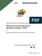 Plano de Gerenciamento de Residuos Solidos - Metal Mecânico  - RS