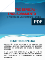 Registro Especial Licitação Publica
