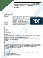 NBR 8196 NB 806 - Desenho Tecnico - Emprego de Escalas