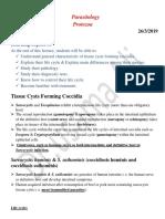 _محاضرة نظري Sarcocystis & Toxoplasma Tissue Cyst Forming Coccidia