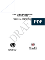 WHO and UNAIDS Draft CD4 Enumerating Technology 2004
