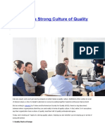 7 Signs of a Strong Culture of Quality