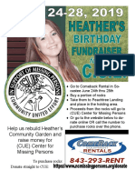 2019 Birthday Fundraiser Flyer