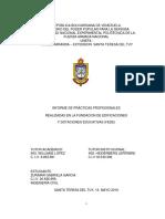 Informe de Practicas Profesionales Realizadas en La Fundacion de Edificaciones y Dotaciones Educativa (FEDE)