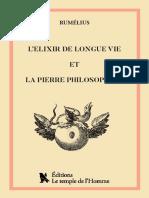 Lelixir de Longue Vie (1)