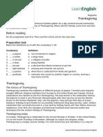 LearnEnglish Magazine Thanksgiving 0