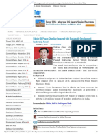 Sikkim CM Pawan Chamling Honoured With Sustainable Development Leadership Award _ Current Affairs Today