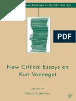 (American Literature Readings in the Twenty-First Century) David Simmons - New Critical Essays on Kurt Vonnegut -Palgrave Macmillan (2009)