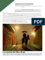 Leyenda de El Sombrerón en Guatemala