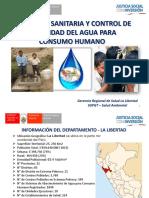 Vigilancia Sanitaria Calidad Del Agua - La Libertad 2017