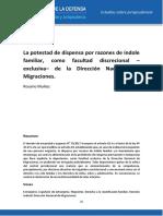 La Potestad de Dispensa Como Facultad Discrecional –Exclusiva– de La Dirección Nacional de Migraciones