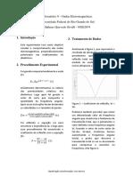 Laboratório 9 - Ondas Eletromagnéticas