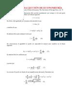 Una Primera Leccion de Econometria