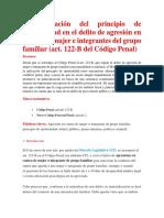 La Aplicación Del Principio de Oportunidad en El Delito de Agresión en Contra de Mujer e Integrantes Del Grupo Familiar