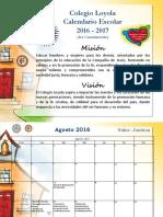CALENDARIO ESCOLAR AÑO 2016-2017