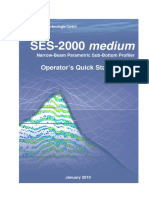 SES2000 Medium Operator's Quick Start Manual - Innomar