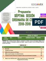 Septima Sesión ordinaria