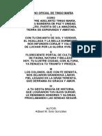 Himno Oficial de Tingo María