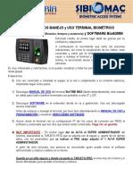 BioTIME MAX y Software BioADMIN - Manejo y Uso-1