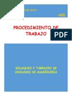 Arb - Pet - Solaqueo y Tarrajeo de Unidades de Albañileria